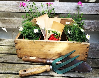 Vintage Wooden Trug, Rustic, Gardener's Gift, Fruit/Flower Basket