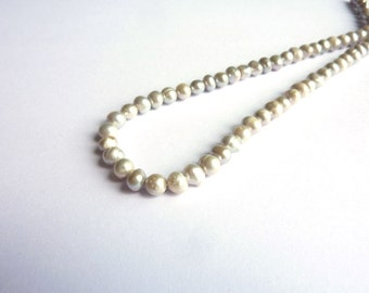 Silver 5-6mm cultured pearls on wire P080
