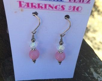Pink Opaque Earrings