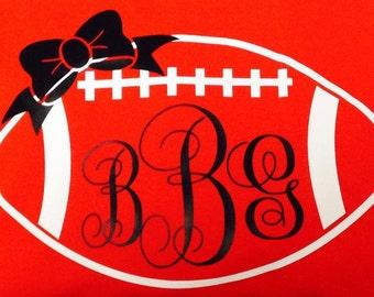 women's custom monogram football shirt vinyl