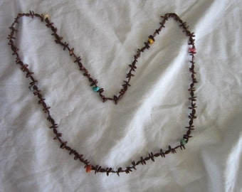 Vintage Seed and Colored Shell Necklace