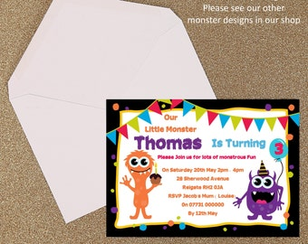 Our Little Monster Children's Party Invitation Design 6