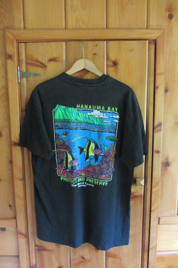 Vintage 90 39 s hanauma bay hawaii t shirt vintage hawaii for Hawaii souvenir t shirts
