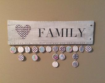 Family Birthday Calendar (Heart) -- Ready to Ship