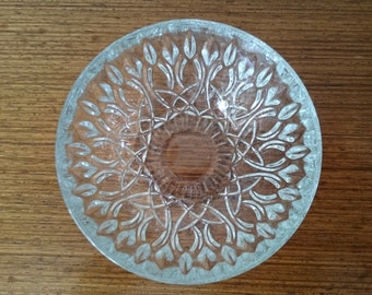 French vintage pressed glass dessert bowls, set of 4
