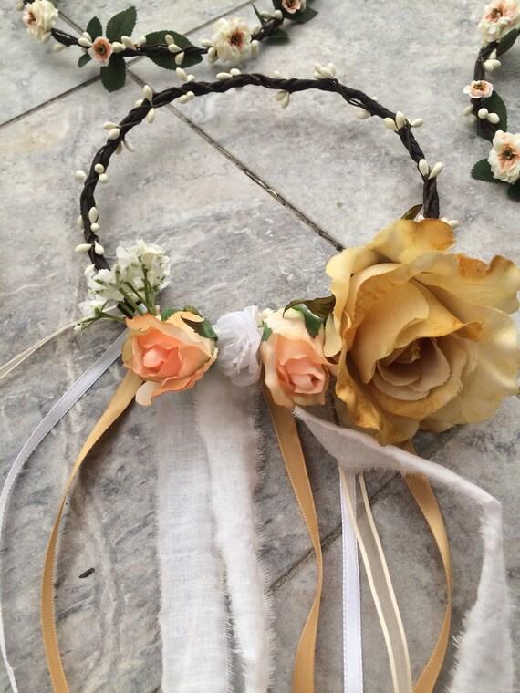 Bride Wedding Flower Crown Halo