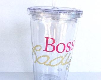 Boss Lady Tumbler, Gift for Boss Lady, Boss Tumbler, Boss appreciation, Customized Boss Gift, Gift for Boss, Boss Gift, Administrative, Boss