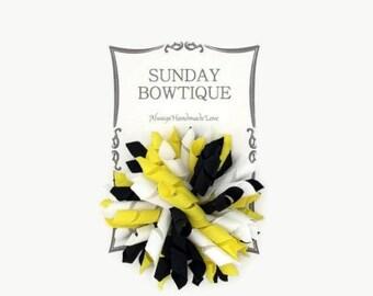 Bumble Bee Korker Hair Bow, Large Korker, Korker Hair Bow, Yellow Black White, Bumblebee, Halloween Korker, Bee Korker, Hair Bow, Bow