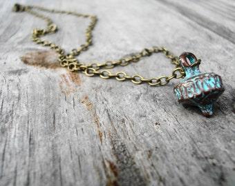 Rustic Patina Ornament Necklace