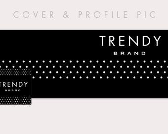 Timeline Cover + Profile Picture | Trendy | Timeline Cover, Social media Profile Picture, Branding, Blog header, Website Banner