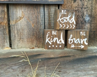 Mix and Match Blocks Be Bold Be Kind Be Brave