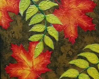 Fall Leaves Painting Leaf Painting Fall Leaves Oil Painting Autumn Leaves Painting Autumn Painting Fall Painting