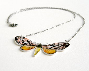Necklace with yellow butterfly