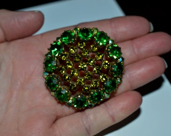 Vintage Rhinestone Brooch Signed Made in Austria