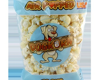"Dogkorn ""Plain"" Flavored Air Popped dog treats"