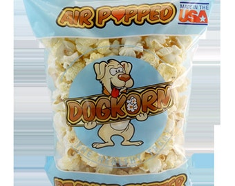 """Dogkorn """"Peanut Butter"""" Flavored Air Popped dog treats"""