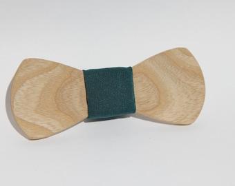ash wood bowtie