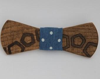 ash wood bow tie