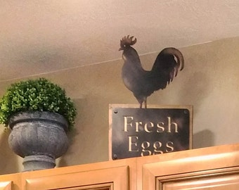 Handcrafted Rustic Chicken Decor  ***FREE US SHIPPING