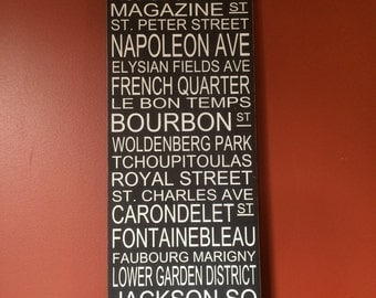 New Orleans Street Sign Subway Typography Handpainted Art