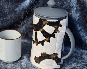 Steampunk Coffee pot cosy. Coffee plunger cosy. French press cosy. Washable hand painted cosy. Made in Australia