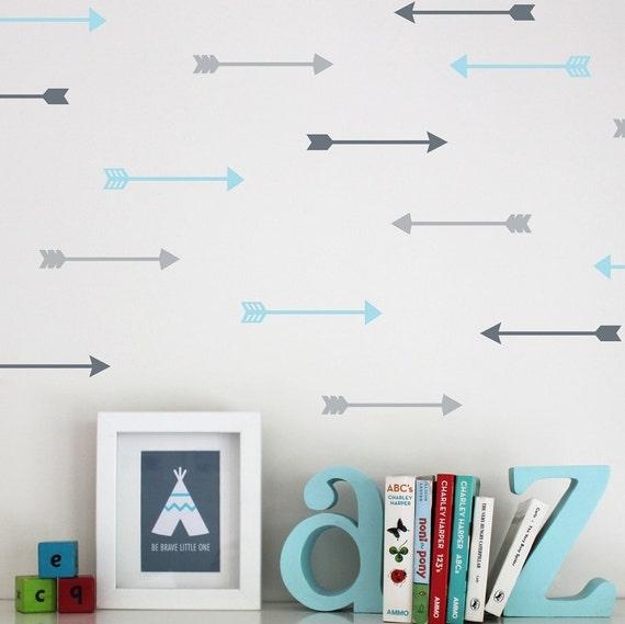 Grey Arrow Wall Decor : Arrow wall decal stickers dark grey light by