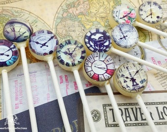 10 About Time Lollipops @by SweetBites Confections