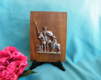 Don Quixote y Sancho Panza, relief, wall art, sculpture, souvenir, collection, decoration