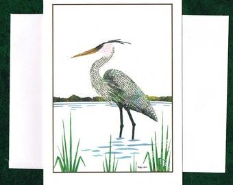 Great Blue Heron - Greeting Card