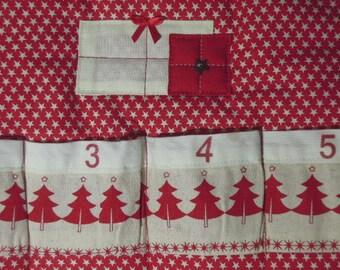 Quilted Cotton Eternal Advent Calendar - Scandi design