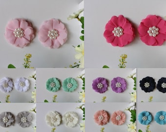 Baby Girl Women Hair Clips Toddler Infant Flower Hairpin Photo Prop 1 pair