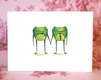 Frogs in Love Card