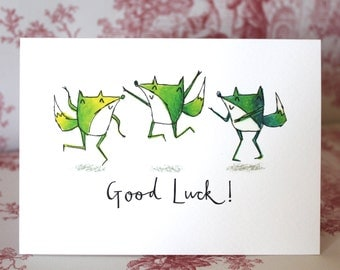 Good Luck Foxes Card