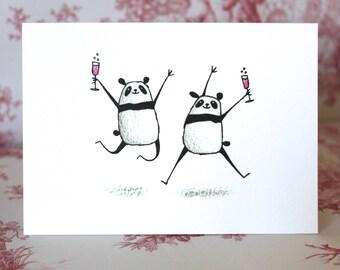 Congratulations Panda Card