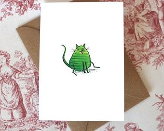 Stripey Cat Card