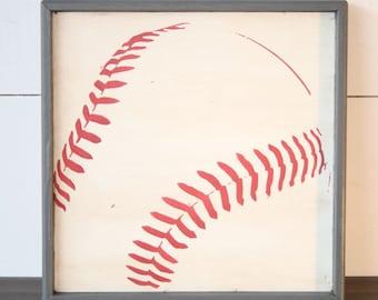 Play Ball Sign Sports Wall Art Alphabet Letters Baseball
