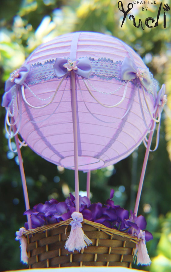 Hot air balloon party decoration floral base by