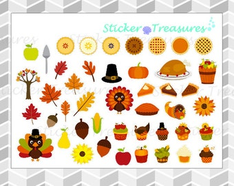 Thanksgiving stickers [Planner Stickers]