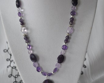 Purple and Lavender Amethyst Necklace