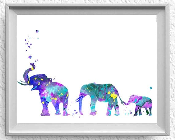 Items similar to Elephant Family Mom, Dad, and baby 3 ...