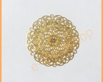Rosette with filigree gold