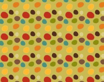 SALE Riley Blake Fabric GREEN Giraffe Dots Green C2853-