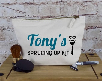 Personalized Dopp Toiletry Kit Or Wash Bag - Unique Birthday Present or Christmas Gift  - Honeymoon Present For The Groom - Shaving Kit Bag