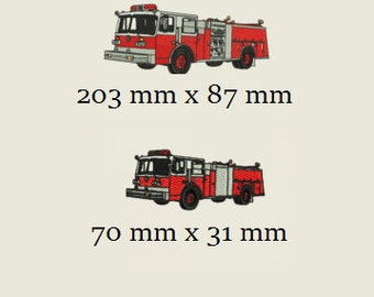Firetruck Embroidery Designs    2 Designs