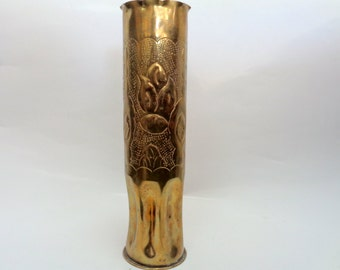 Brass  Vase, Art Vase, Brass stand, French Decor