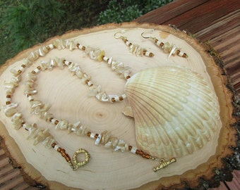Mexican Sea Shell necklace set