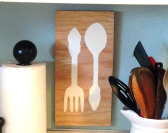 Cute, hand painted kitchen art