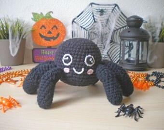 Crochet Spider Stuffed Animal, Halloween Decoration