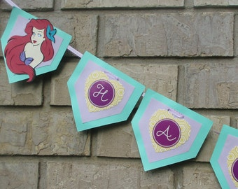 Little Mermaid Party Banner