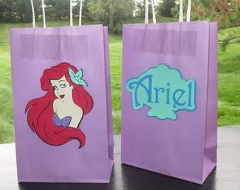 Little Mermaid Party Goodie Bags - set of six